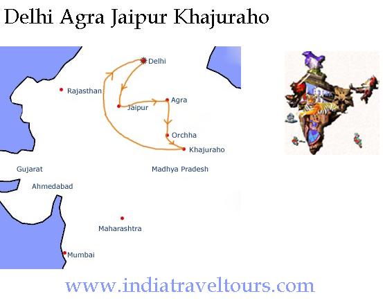 Golden Triangle Tour with Khajuraho