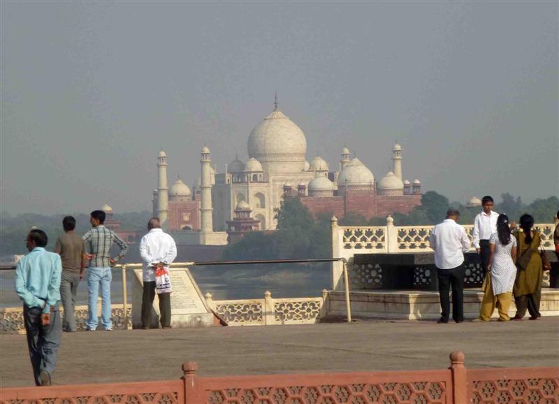 Agra Fort giving Taj Mahal View